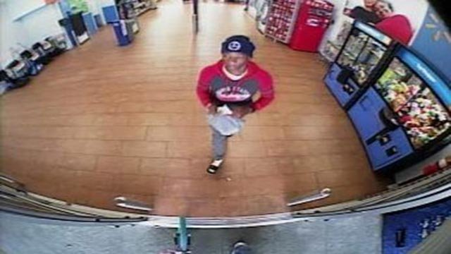 Surveillance photo of suspect who used a stolen credit card to purchase gift cards in Lake St. Louis (Credit: St. Charles County Police Department)