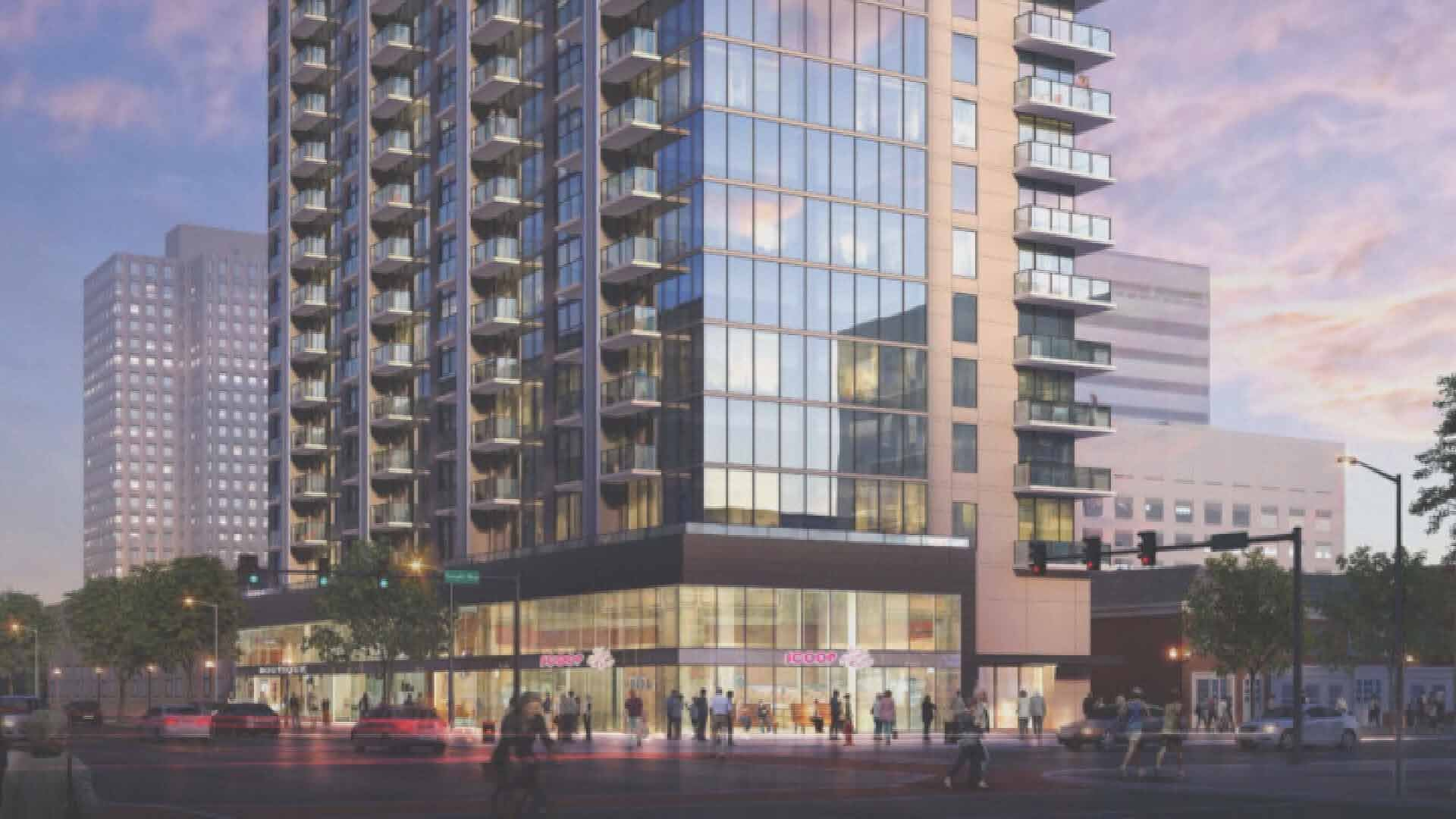 The proposed high rise at Brentwood and Forsyth in Clayton. Credit: KMOV