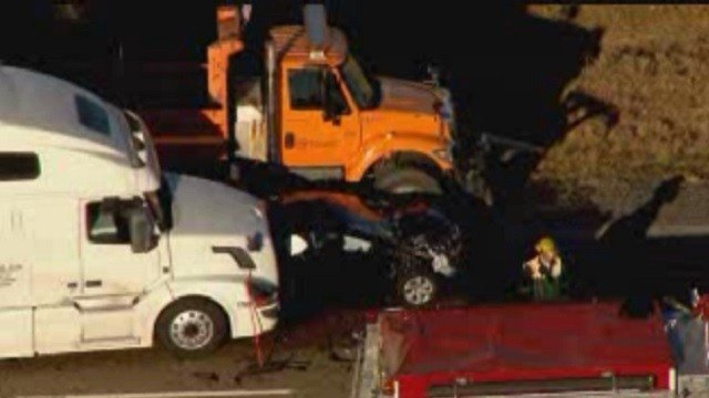 An accident on Interstate 64 near Scott Air Force Base (KMOV)