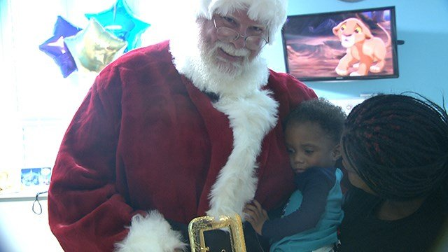 Cardinal Glennon patients got a special visit from Santa Wednesday (Credit: KMOV)
