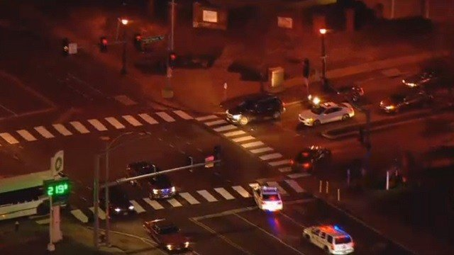 Police Chase Speeds Through Downtown St. Louis During Rush Hour