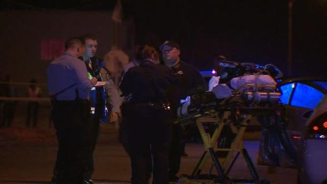 Emergency crews in the 4200 block of John after three women were found dead Friday (Credit: KMOV)