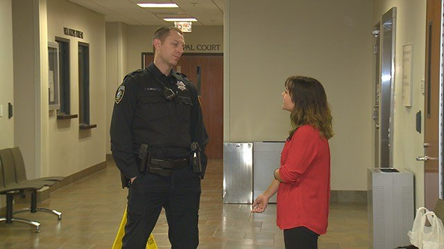 A powerful moment took place when a former drug addict met the officer who she says helped turn her life around. (Credit: KMOV)