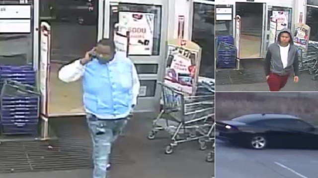 Two men wanted for car break-ins in Chesterfield (Credit: Chesterfield PD)