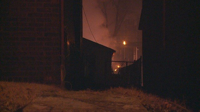 A garage fire broke out in a garage early Wednesday morning. (Credit: KMOV)