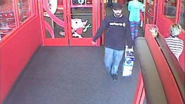 The same man walked out of the same Target Dec. 4 with another vacuum. (Credit: Shiloh Police Department)