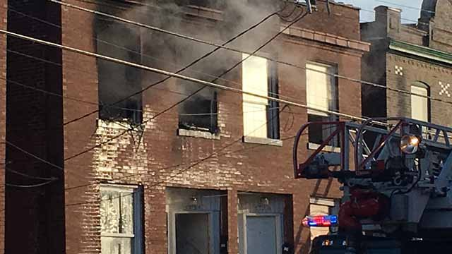 Nobody was injured when a fire broke out in the 3600 block of Wisconsin on Saturday afternoon. Credit: KMOV
