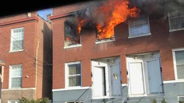 Nobody was injured when a fire broke out in the 3600 block of Wisconsin on Saturday afternoon. Credit: KMOV viewer