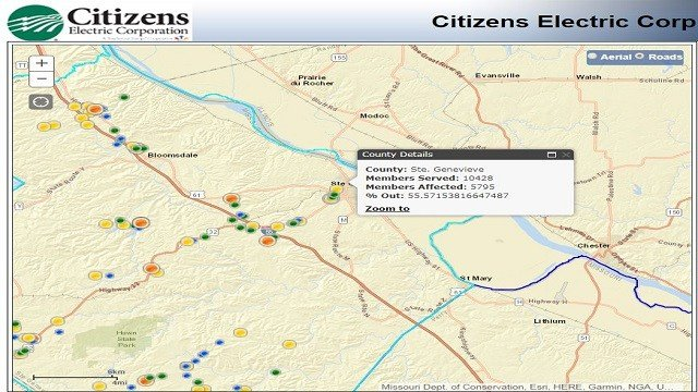 More than 5,000 customers without power in St. Genevieve County  (Credit: Citizens Electric Corporation)