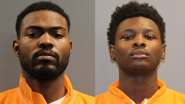 Jermane Hunt, 25, and Marquise Chairs, 21, are accused of two armed robberies in Belleville on Dec. 29 (Credit: Belleville Police)