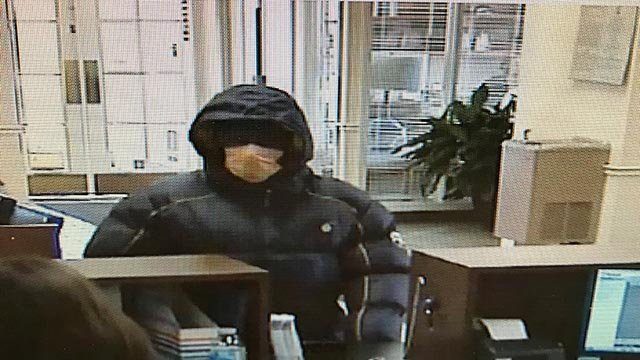 Surveillance photo of Wood River bank robbery suspect (Credit: Wood River Police)