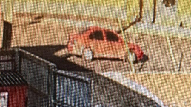 Surveillance photo of Wood River bank robbery suspect's vehicle (Credit: Wood River Police)