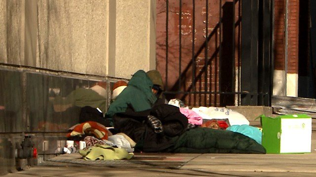 The City of St. Louis is trying to find safe shelter for the nearly 1,300 homeless in the city. (Credit: KMOV)