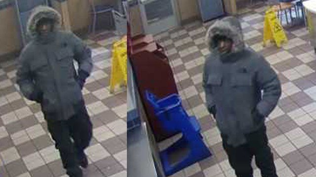 Surveillance photos of a man police say robbed a White Castle in late December. (Credit: SLMPD)