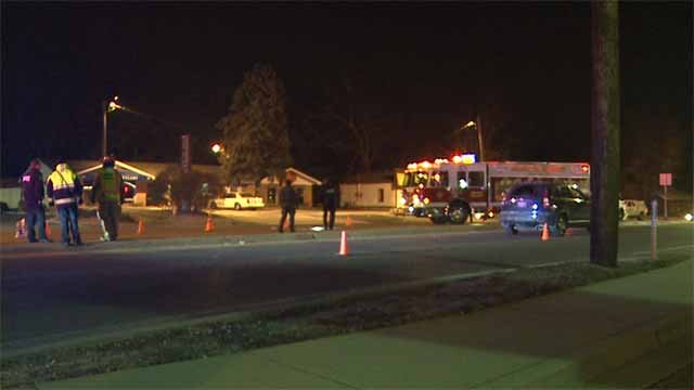 A man was hit by a car and killed in Swansea Thursday night. Credit: KMOV