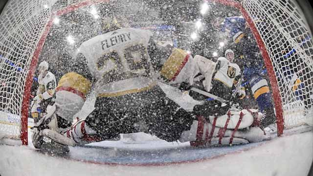 Marc-Andre Fleury #29 of the Vegas Golden Knights makes a save against the St. Louis Blues at Scottrade Center on January 4, 2018 in St. Louis, Missouri. (Photo by Scott Rovak/NHLI via Getty Images)