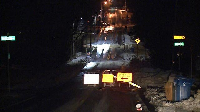 A water main break closed a portion of Berry Road in Glendale (Credit: KMOV)