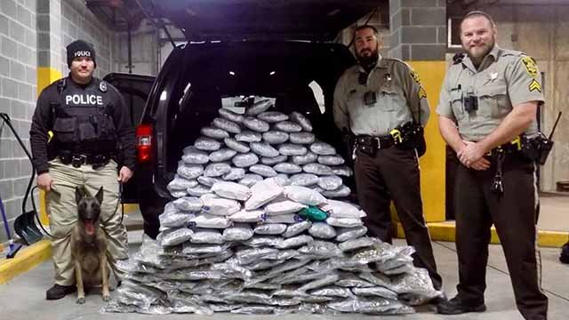 Warren County authorities say they seized 150 pounds of marijuana during a traffic stop Thursday. Credit: Warren Co. Sheriff