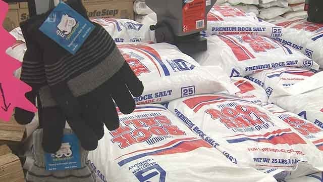 Local residents are also making preparations for Sunday's freezing rain. (Credit: KMOV)