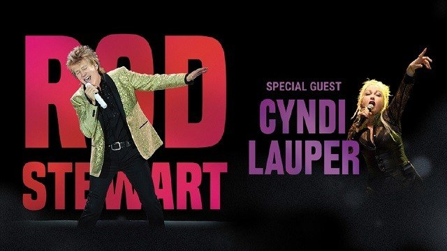 Rod Stewart and Cyndi Lauper will be at Hollywood Casino Amphitheater Aug. 19. (Credit: Live Nation)