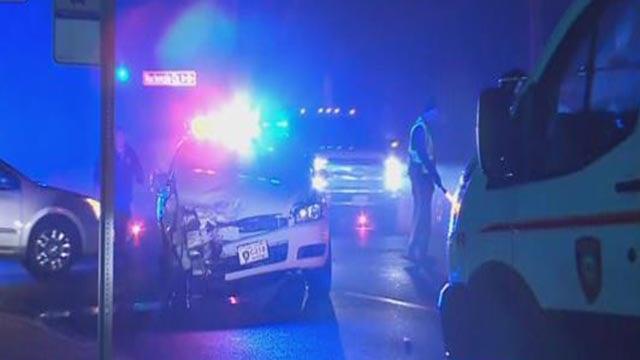 Emergency crews at Mackenzie Road and Reavis Road Tuesday (Credit: KMOV)