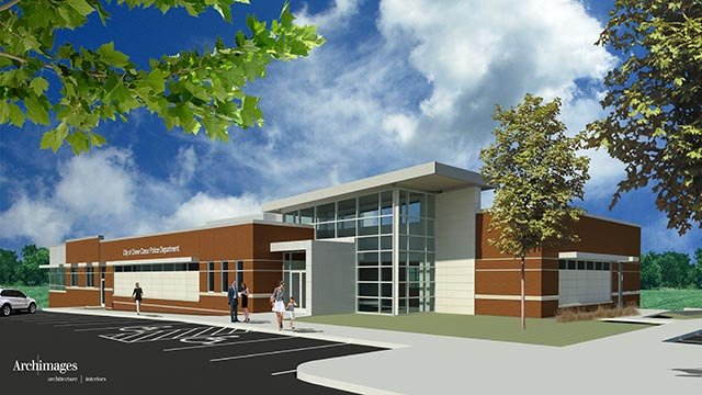 Exterior of proposed Creve Coeur police station (Credit; Creve Coeur City Council)