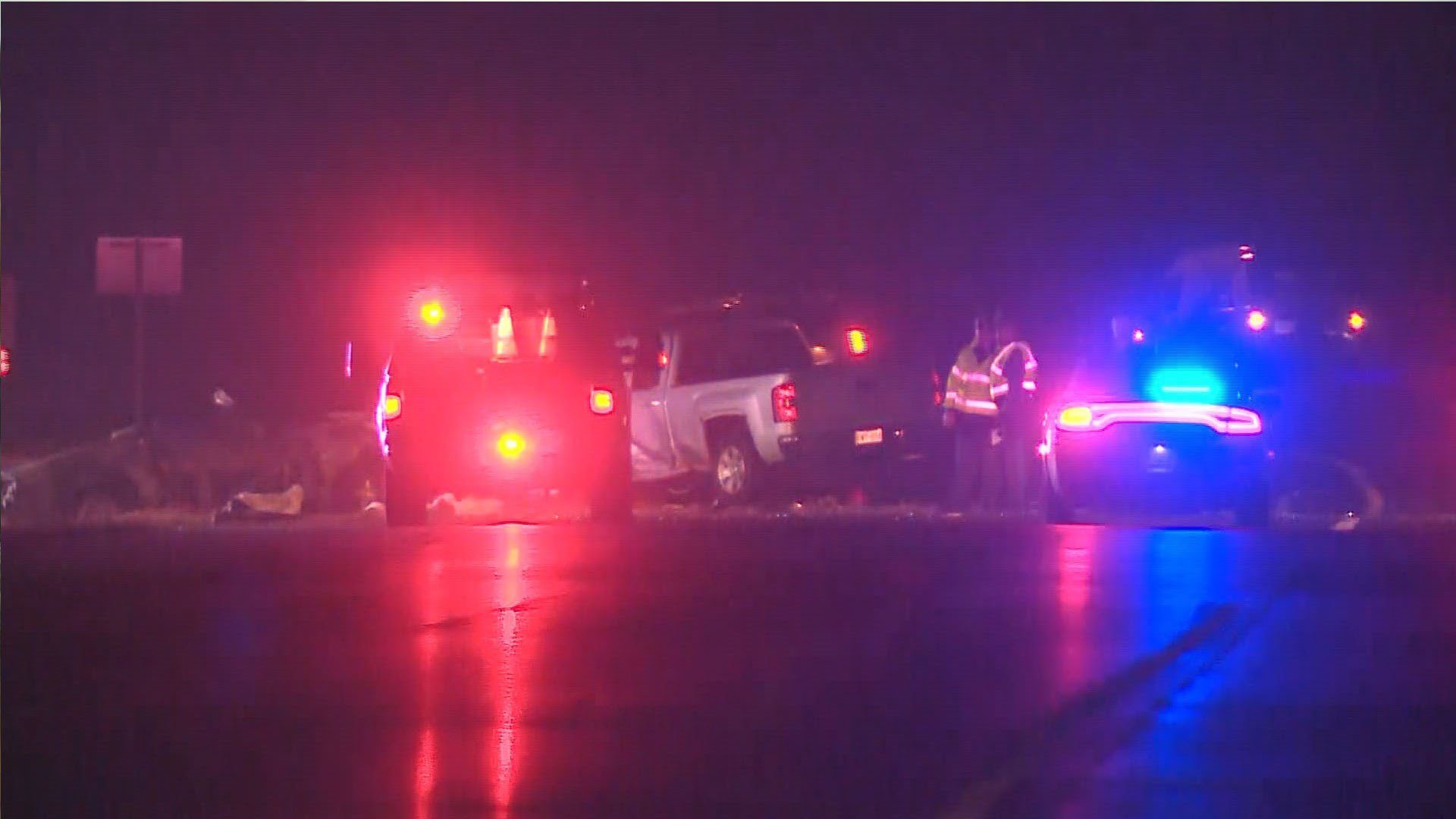 Police investigate a fatal crash on Route 30 in Jefferson County. (Credit: KMOV)