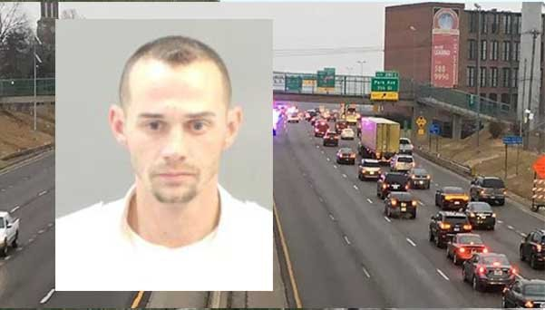 Police say Adam Tainter struck and killed a homeless man, later identified as Montez J. Horton, on I-55 near Seventh St. before taking off and head east Tuesday morning. He was later arrested at Lumiere Casino. (KMOV)