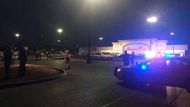 Shots were fired near a Shop 'n Save store in North County on Wednesday. Credit: KMOV