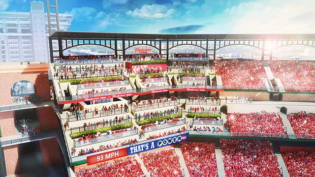 Seating at the Budweiser Terrace (Credit: St. Louis Cardinals)