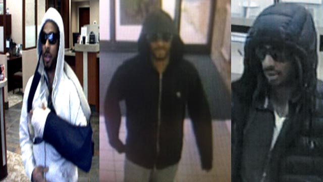 Surveillance photo a bank robbery suspect in the Metro East (Credit: Police)