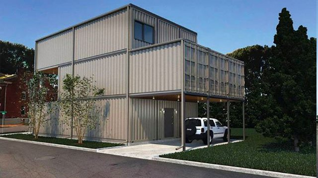 Renderings of shipping container home planned to be built in St. Louis City (Credit: KMOV)
