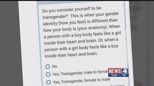 Parents angry after 6th graders given drug use, gender identity survey