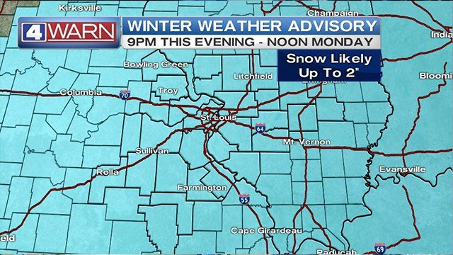 National Weather Service issues Winter Storm Watch