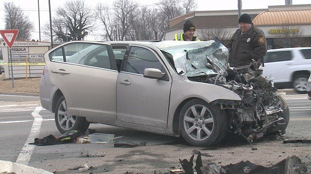 A man was killed when his car ran into a Jeep in South County. (Credit: KMOV)