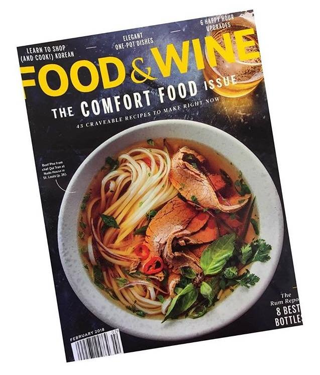 Nudo House graces the cover of February's Food and Wine. (Credit: Nudo House)