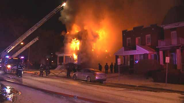 A fire broke out at a vacant home in the 4300 block of Ashland on Monday. Credit: KMOV