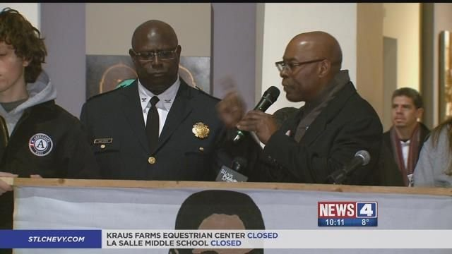 St. Louis Public Safety Director Jimmie Edwards speaks at a Martin Luther King, Jr. Day event on Monday. Credit: KMOV