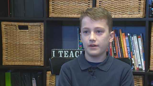 A local student is stepping up to help veterans in St. Louis and he's doing it to honor his grandfather. (Credit: KMOV)
