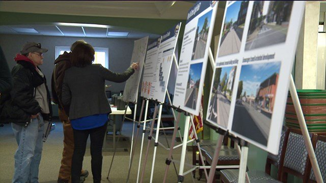 Plan images displayed at light rail study that'll connect North. St. Louis to South county. (Credit: KMOV)