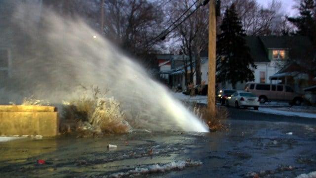 Missouri American Water is facing a historic amount of water man breaks. (Credit: KMOV)