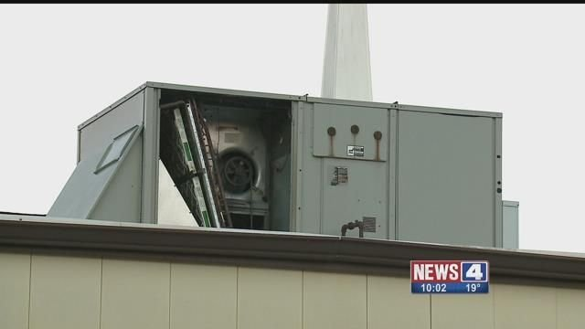 Thieves stole the heating unit from Mount Chapel Baptist Church in North City. Credit: KMOV