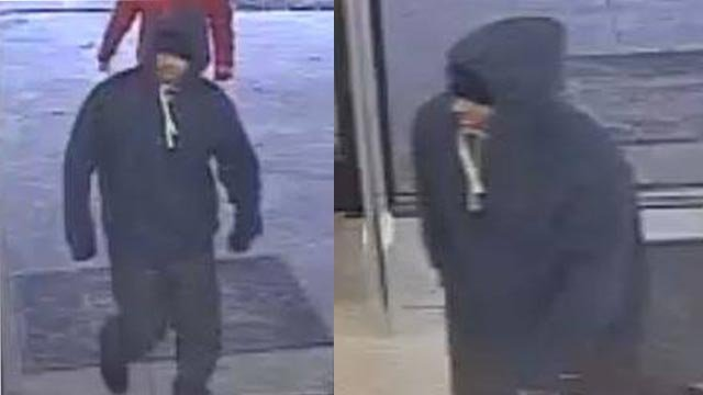 Surveillance photos of a suspect who robbed a Dollar General in Godfrey Wednesday evening (Credit: Madison County Sheriff's Department)
