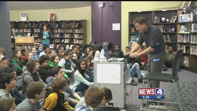 Eighth grade students at Parkway Northeast Middle are getting the chance to practice journalism. Credit: KMOV