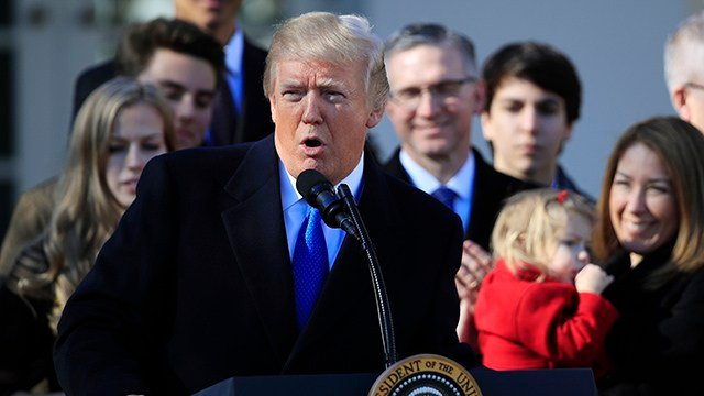 President Donald Trump speaks at a event, in the Rose Garden of the White House in Washington, Friday, Jan. 19, 2018. (AP Photo/Manuel Balce Ceneta)
