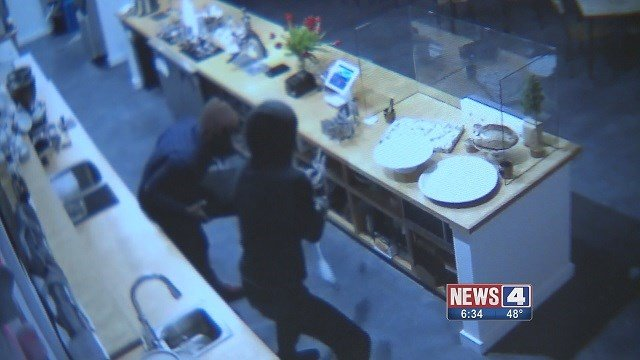 Surveillance footage caught thieves on camera at Fiddlehead Fern Cafe. (Credit: Fiddlehead Fern Cafe)