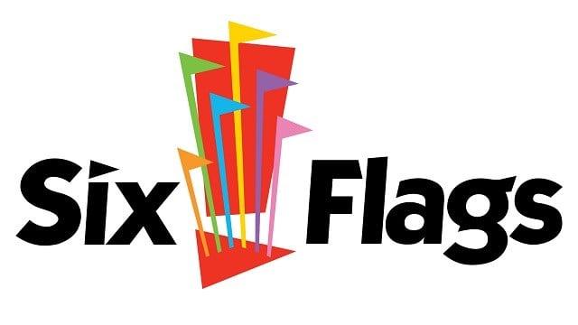 Six Flags logo (Credit: AP Images)