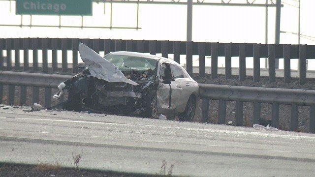 A fatal crash happened Sunday on I-64. (Credit: KMOV)