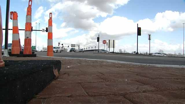To handle increasing traffic, MoDOT wants to turn the I-70, Bryan Road interchange in O'Fallon, Mo. into a diverging diamond. Credit: KMOV