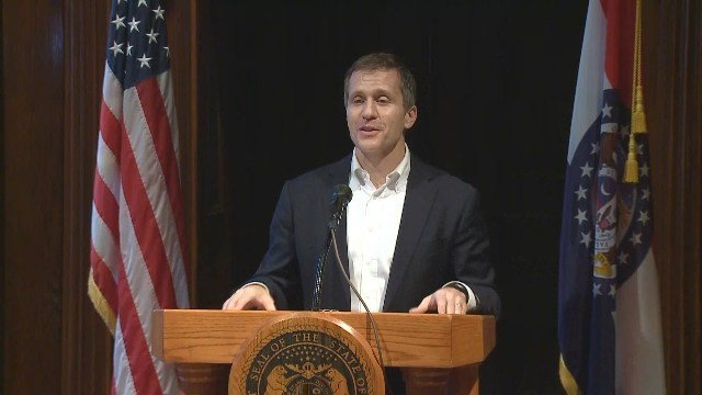 Missouri Gov. Eric Greitens unveils his administration's budget for FY 2019. Credit: KMOV